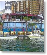 Cartoon Boats Metal Print