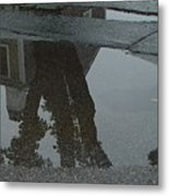 Casa Uno Puddle Metal Print by Ron Sylvia