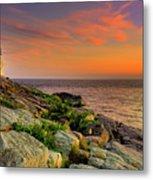 Castle Hill Lighthouse - Newport Rhode Island Metal Print by Thomas Schoeller