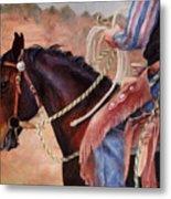 Castle Rock Buckaroo Western Cowboy Painting Metal Print