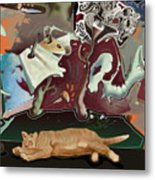 Cat Dreams II Metal Print