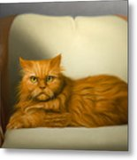 Cat Portrait Of Tosca Metal Print
