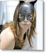 Cat Woman Metal Print