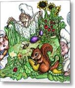 Catch-a-squirrel Metal Print by Rae Chichilnitsky