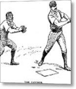 Catcher & Batter, 1889 Metal Print