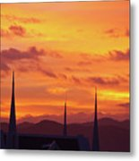Cathedral Church Sunset Metal Print