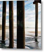 Cayucos Pier Metal Print
