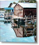 Cedar Key Reflections 2 Metal Print