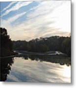 Centennial Lake Autumn - Great View From The Bridge Metal Print