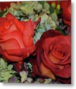 Centerpiece Roses Metal Print