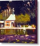 Central Park Boathouse Impression Metal Print