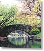 Central Park Bridge Metal Print
