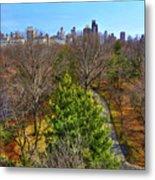 Central Park East Skyline Metal Print