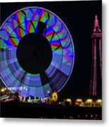 Central Pier Blackpool Metal Print