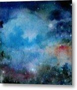 Cerulean Space Clouds Metal Print