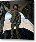 Ch-47 Chinook Crew Chief Stands Metal Print