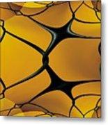 Chain Link Fractal Metal Print
