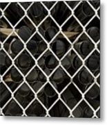 Chain Link Pipe Metal Print