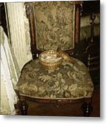 Chair By The Hearth Metal Print
