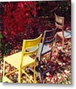 Chairs Metal Print