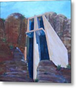 Chapel In The Mountains Metal Print