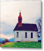 Chapel On A Hill Metal Print