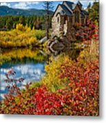 Chapel On The Rock Fall Metal Print