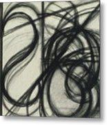 Charcoal Arc Drawing 7 Metal Print