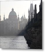 Charles Bridge At Early Morning Metal Print by Michal Boubin