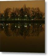 Charles River At Night Metal Print