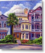 Charleston Houses Metal Print by Jeff Pittman