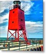 Charlevoix South Pier Light Metal Print