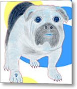 Charlie The Bulldog Metal Print