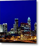 Charlotte Nc Skyline At Dusk Metal Print