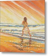 Chasing The Surf Metal Print
