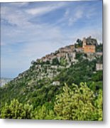 Chateau D'eze On The Road To Monaco Metal Print by Allen Sheffield