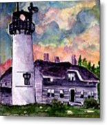 Chatham Lighthouse Martha's Vineyard Massachuestts Cape Cod Art Metal Print