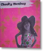 Cheeky Monkey Metal Print