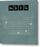 Chemistry Of A Nation Metal Print