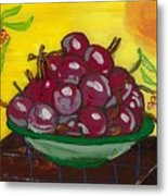 Cherry Bowl Metal Print