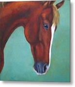Chestnut Horse Metal Print