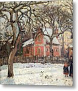 Chestnut Trees At Louveciennes Metal Print