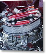 Chevrolet Bel-air Matchbox Car Metal Print