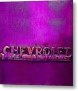 Chevrolet Pink Metal Print