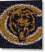 Chicago Bears Bottle Cap Mosaic Metal Print by Paul Van Scott