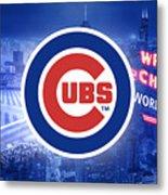 Chicago Cubs Baseball Metal Print