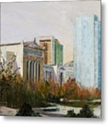Chicago Museum Campus From The Steps Of The Shedd Metal Print