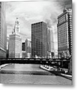 Chicago River Buildings Skyline Metal Print by Paul Velgos