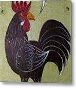 Chicken Kitty Metal Print