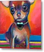 Chihuahua Dog Portrait Metal Print